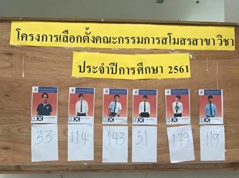 โครงการเลือกตั้งนายกสโมสร ประจำปีการศึกษา 2561