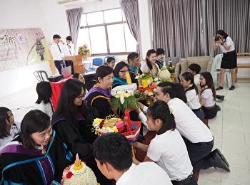 พิธีไหว้ครู ประจำปีการศึกษา 2561 สาขาวิชาการจัดการโลจิสติกส์ วิทยาลัยโลจิสติกส์และซัพพลายเชน มหาวิทยาลัยราชภัฏสวนสุนันทา ศูนย์การศึกษาจังหวัดชลบุรี ในวันที่ 21 ตุลาคม 2561