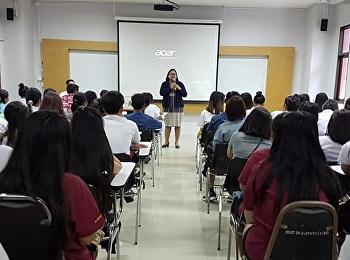 แนะแนวการศึกษาต่อปริญญาตรีที่วิทยาลัยเทคโนโลยีอักษร (บ้านฉาง) จ.ระยอง งานนี้มีผู้สนใจเข้าฟังทั้งนักเรียนและผู้ปกครองจำนวนมาก