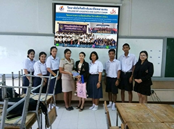 On 24 Dec 2018, the team of College of Logistics and Supply Chain, Suan Sunandha Rajabhat University, led by the head of Logistics Management, gave an educational guidance at Suansri Witaya School, Lungsuan district, Chumphon. The team would like to thank