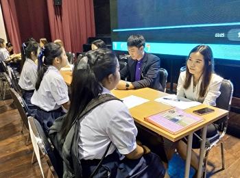 10 ม.ค. 2562  บรรยากาศการสอบสัมภาษณ์ TCAS รอบ 1 (Portfolio) ของผู้มีสิทธิ์สอบคัดเลือกเข้าศึกษาต่อ ระดับปริญญาตรี วิทยาลัยโลจิสติกส์และซัพพลายเชน มรภ. สวนสุนันทา ประจำปีการศึกษา 2562  ณ ศูนย์ การศึกษาจังหวัดนครปฐม