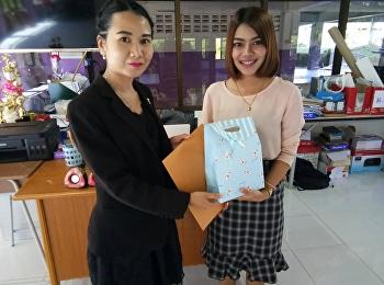the head of logistics management from College of Logistics and Supply Chain, Suan Sunandha Rajabhat University, presented 2019 New Year presents to educational counselors at Takluapa Kirikhet School and Kuraburichai Pattana Piriyakom