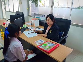 Interview for TCAS Students, Round 1 at Chonburi Education Center, College of Logistics and Supply Chain, Suan Sunandha Rajabhat University, Semester 2, 2018