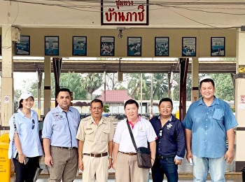 Asst. Prof. Dr. Komson Sommanawat, Dean of College of Logistics and Supply Chain, Suan Sunandha Rajabhat University, went to Bansue rail yard in Bangkok and Ban Pachee train station in Ayutthaya to source train locomotives and carriages