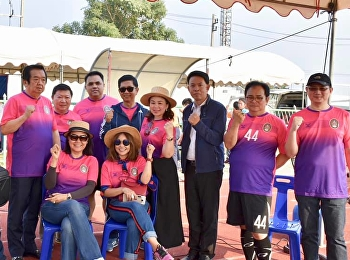 Asst. Prof. Dr.Komson Sommanawat, Dean of College of Logistics and Supply Chain, participated in the friendly football match between The executive member of Suan Sunandha Rajabhat University and The Sport Press of Thailand in the 1st Friendly Match