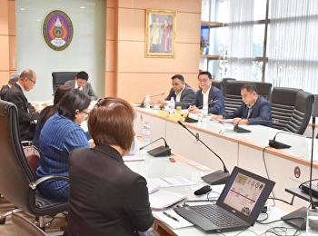 Asst. Prof. Dr. Komson Somanawat, Dean of the College of Logistics and Supply Chain Suan Sunandha Rajabhat University attended the Board of Directors Meeting of the College of Logistics and Supply Chain No. 2/2019 with Assoc. Prof. Dr. Luedech Girdwichai