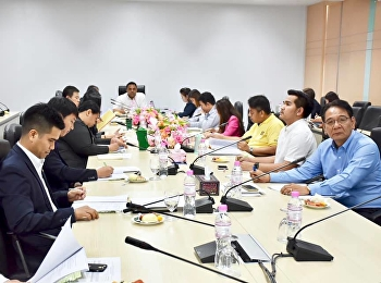 Asst. Prof. Dr. Komson Sommanawat, Dean of College of Logistics & Supply Chain, presided over the 3rd meeting of Administrative Committee of College of Logistics and Supply Chain, Suan Sunandha Rajabhat University,
