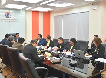 Asst.Prof. Dr.Komson Sommanawat, Dean of College of Logistics and Supply Chain, attended the 3/2019 College of Logistics and Supply Chain Board of Committee Meeting which had Assoc.Prof. Dr.Luedech Girdwichai,