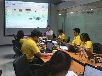 อาจารย์ ธนวัฒน์ วิเศษสินธุ์ ได้อบรมแลกเปลี่ยนเรียนรู้สถานประกอบการ (Bangkok Glass Public Company Limited) การจำลองสถานการณ์ด้วยโปรแกรม FlexSim