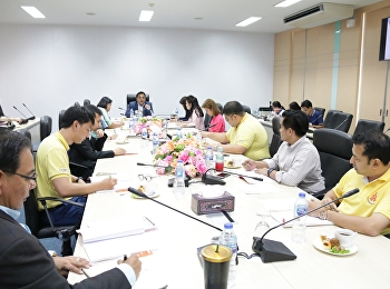 Asst. Prof. Dr. Komson Sommanawat, Dean of College of Logistics and Supply Chain, Suan Sunandha Rajabhat University, presided over the 6th Meeting of the Administrative Committee 2019 at the meeting room on the 4th floor of Building 2,
