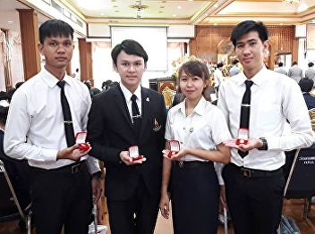 Suan Sunandha Rajabhat University students was selected from the Buddhist Association of Thailand under Royal Patronage to attend the awards ceremony 2019 at Samphraya Worawihan Temple, Phra Nakhon district, Bangkok as they have a good behavior, morality,
