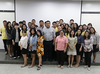 Asst. Prof. Dr. Komson Sommanawat, Dean of College of Logistics and Supply Chain and Acting Director of Nakhon Pathom Campus, was the instructor for the workshop 'Information Summary for Effective Work Operation' for academic support staff.