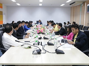 Asst. Prof. Dr. Komson Sommanawat, Dean of College of Logistics and Supply Chain, Suan Sunandha Rajabhat University, presided over the meeting of College of Logistics and Supply Chain Administrative Committee No. 10/2019.