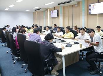 Asst. Prof. Dr. Komson Sommanawat, Dean of College of Logistics and Supply Chain, Suan Sunandha Rajabhat University, presided over the meeting on the action plan of the academic service project according to the strategy of Suan Sunandha Rajabhat Universit