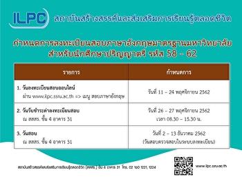 ILPC กำหนดการลงทะเบียนสอบ