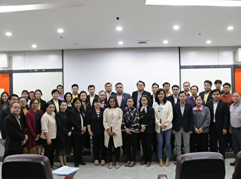 Asst. Prof. Dr. Komson Sommanawat, Dean of College of Logistics and Supply Chain, Suan Sunandha Rajabhat University, was the chairman of the training course for skill standard tester, Logistics Industry Group Level 1, inventory controller.