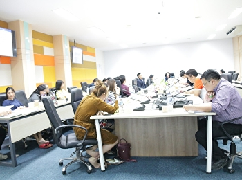อาจารย์สุดารัตน์ พิมลรัตนกานต์ รองคณบดีฝ่ายแผนงานและประกันคุณภาพ เป็นประธานการประชุมการสร้างความรู้ความเข้าใจการประกันคุณภาพการศึกษาภายใน