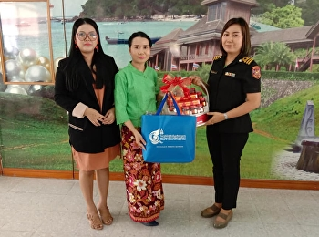 Miss Pornpanna Laoprawatchai, Head of Logistics Management Department in Ranong Education Center, met with the Director of Department of Land Transport in Ranong Province to give the New Year gift in order to express the gratitude for the support during