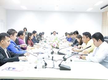 Professor Dr.Komson Sommanawat, Dean of College of Logistics and Supply Chain (CLS), Suan Sunandha Rajabhat University (SSRU), was the chairman in the 1st/2020 CLS Executive Committee meeting
