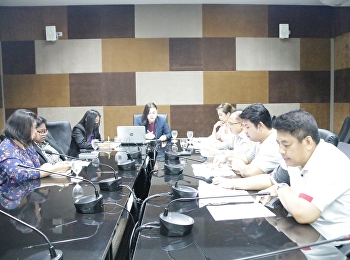Miss. Sudarat Pimonrattanakan, Associate Dean of Planning and Quality Education, College of Logistics and Supply Chain, Suan Sunandha Rajabhat University, Nakhon Pathom Education Center presided over the meeting to clarify the project in the eMENSCR syste