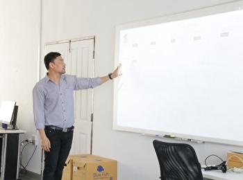 วิทยาลัยโลจิสติกส์และซัพพลายเชน มหาวิทยาลัยราชภัฏสวนสุนันทา ศูนย์การศึกษาจังหวัดนครปฐม จัดการประชุมหารือการจัดทำคู่มือระบบการใช้งานโปรแกรม WMS