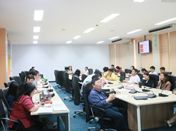 Dr. Chattrarat Hotrawisaya, Associate Dean for Research and Academic Services, held the meeting to prepare the 3rd National Conference on Logistics and Supply Chain Management.