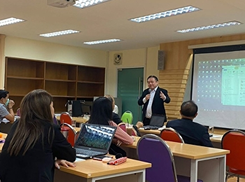 College of Logistics and Supply Chain, Suan Sunandha Rajabhat University, Nakhon Pathom Education Center, Doctor of Business Administration (Logistics and Supply Chain Management) Program organized a lecture for students in the DBA8105 course -