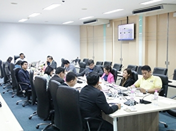 Asst. Prof. Dr. Komson Sommanawat, Dean of College of Logistics and Supply Chain (CLS), Suan Sunandha Rajabhat University (SSRU), presided over the meeting to monitor the results of the objectives and key results (OKRs).