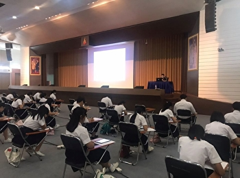 """College of Logistics and Supply Chain, Suan Sunandha Rajabhat University, organized the online midterm exam for the """"Principle of Economics"""" and """"Principle of Marketing"""" at the meeting room on 2nd floor, the 84th building."""