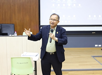 """Mr. Suwat Nualkaw, Deputy Dean for Administration, lectured on the subject """"Introduction to the National Skill Standard Tests"""