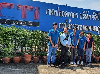 Dr. Putjai Indranoi, Head of Air Cargo Management Department, visited internship students at CTI Logistics Co., Ltd.