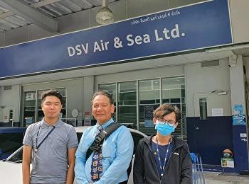 ดร.ปัจจัย อินทรน้อย หัวหน้าแขนงวิชาการจัดการการขนส่งสินค้าทางอากาศ เข้าเยี่ยมและส่งนักศึกษาฝึกงาน บริษัท DSV Air & Sea Ltd.,