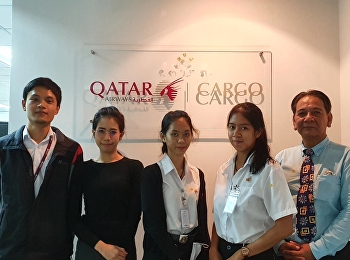 Dr. Putjai Indranoi, Head of Air Cargo Management Department, visited internship students at Companies membered in Thai Airfreight Forwarders Association (TAFA).