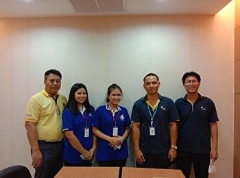 อาจารย์ จัตตุรงค์ เพลินหัด เข้าเยี่ยมและส่งนักศึกษาฝึกงาน บริษัทไทยรีเฟอร์