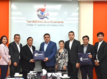 Asst.Prof.Dr.Komson Sommanawat, Dean of College of Logistics and Supply Chain, welcomed Mr.Tongchai Kajornchaitanang, Advisor to the Deputy Minister of Commerce and Acting Sub Lt.Kittipan Mulsrichai,
