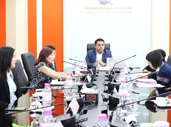 Asst.Prof.Dr.Komson Sommanawat, Dean of College of Logistics and Supply Chain, as the acting Director of Suan Sunandha Rajabhat University, Nakorn Pathom Campus welcomed the 2019 academic year's academic assessment committee of Suan Sunandha Rajabhat