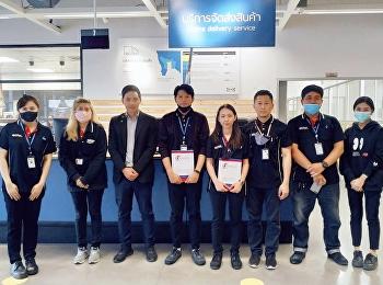 Dr.Wissawa Aunyawong visited internship students at M-World Logistics (Thailand) Co., Ltd.