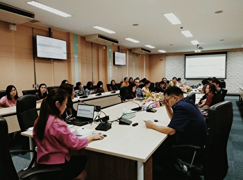 Dr. Chattrarat Hotrawaisaya acting on behalf of the Dean of the College of Logistics and Supply Chain, SSRU Nakhon Pathom Campus was a chairman in the meeting to clarify the performance appraisal form, fiscal year 2021.
